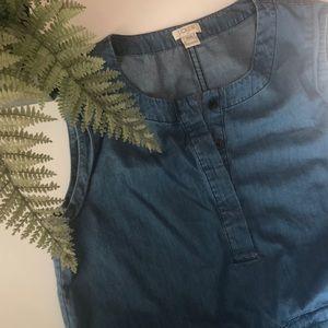 JCrew Factory Denim Shirt Dress- Denim/ XXS